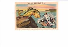 You Ought To See The One That Got Away Gracefield Postcard 1945 3c Canada Stamp