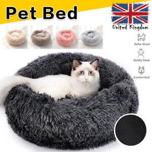 Pet Dog Cat Bed Calming Beds Comfy Shag Warm Fluffy Bed Nest Mattress Fur Pad UK