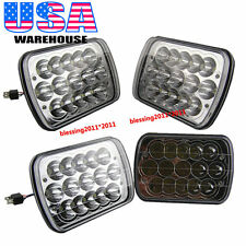 "4PCS 7x6"" LED CREE LIGHT BULBS CRYSTAL CLEAR SEALED BEAM HEADLAMP HEADLIGHT 45W"