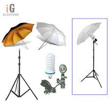 Photography studio kit 2nd light stand+Light bulb+Umbrella x 2+Swivel Adapter
