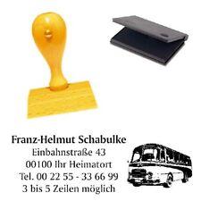 Adressenstempel « OSTALGIE BUS » mit Kissen - Firmenstempel - DDR Ossi Republik