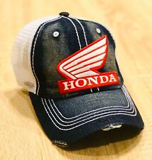 HONDA FACTORY RACING HAT CAP BMX BIKE TRUCKER BK BRAND DENIM MX YZF YFZ RI R6