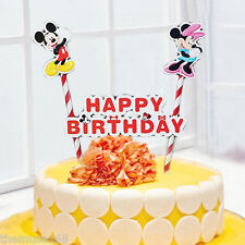 Mickey Minnie Mouse Happy Birthday Cake Topper Set for Kids Birthday Party Decor