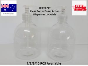 500ml PET Plastic Bottle with Pump AU STOCK fast Dispatch