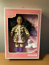 "Lori Ariah & Winston Fashionable 6"" Doll & her Puppy New"