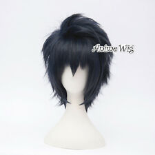 For Final Fantasy XV 15 Noctis Lucis Caelum Short Gray Blue Anime Cosplay Wig