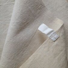 Antique French Linen Towels - Pale Beige Linen - Large Towels - Unused