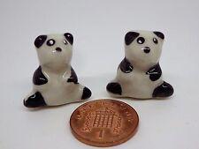 Échelle 1:12 Céramique Ours X 2 Maison de poupées miniature animal, jardin, jouets