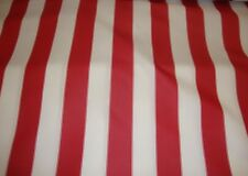 "Outdoor Upholstery Waterproof Red White Striped Canvas fabric Home 60"" wide 3 YA"
