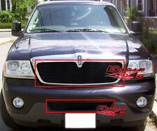 Fits 2003-2005 Lincoln Aviator Black Billet Grille Combo