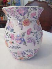 YANKEE CANDLE WAX TART MELT HOLDER WITH ASSORTED FLOWERS & SALT MIST ROSE TART