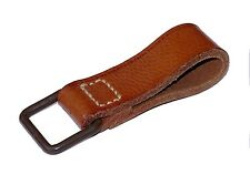 Vintage Ex-Army Thick Leather Belt Loop Square D-Ring carry support attachment