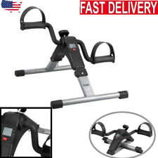 Folding Pedal Exerciser Bike Fitness Exercise Cycle Leg Arm LCD Display Gym Home