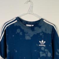 Adidas Dark Blue Tie Dye Short Sleeve T Shirt - Mens S