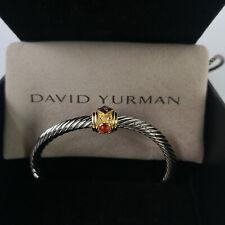 David Yurman Renaissance Classic Cable Cuff Bracelet W/ Pink Tourmaline