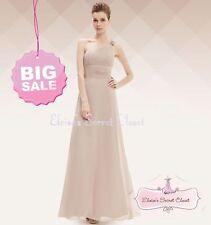 Full Length Polyester One Shoulder Ballgowns for Women