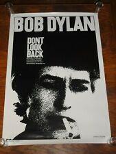 BOB DYLAN Don't Look Back 1967 R-1998 One Sheet Poster U.S. Original 27X39