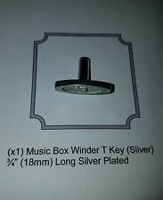 Music Box Silver T Replacement Key