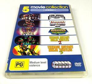 Digimon The Movie / Power & Turbo Rangers / TMNT 2 & 3 - Genuine Region 4 DVD