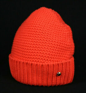 LOUIS VUITTON Fire Orange Wool Beanie Skull Cap Hat