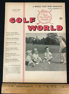 1960 JUNE 24 GOLF WORLD WEEKLY NEWS GOLF MAGAZINE *PALMER/NICKLAUS* 8520