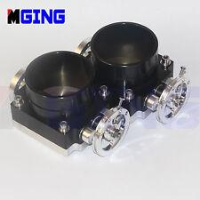 "90MM 3.54"" Throttle Body Intake Manifold High Flow Universal RB25DET RB26DET 2pc"