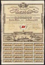 Co. Anonima Maritima Rodas (Rodas Shipping Co., 1000 Peseta share, Bilbao 1899,