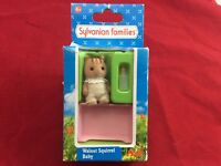 Calico Critters Sylvanian Families Walnut Squirrel Baby Pink SF4173 Epoch