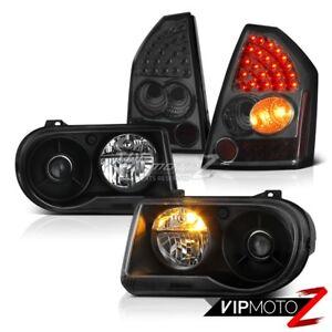 2005 2006 2007 Chrysler 300C SRT8 Clear/Black Headlights LED Bulbs Tail Lights