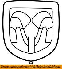 Dodge CHRYSLER OEM 07-12 Caliber Front Bumper Grille Grill-Medallion 5155674AA