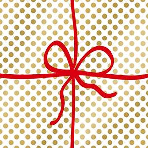 """ppd 20 Servietten """"Cadeau Deluxe Dots Gold"""" 33 x 33 cm Napkins Weihnachten"""