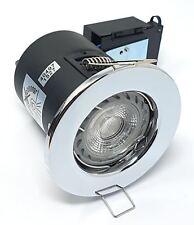 ROBUS LED CON RESISTENZA AL FUOCO GU10 proiettorino da incasso cromato da soffitto faretti luci con bulbo