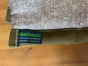 """AUDIOMUTE Padded Sound Absorption Panel, Brown/Tan, 47"""" x 22"""""""