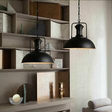 Vintage Industrial Retro Loft Black Ceiling Lamp Barn Pendant Light with Rustic
