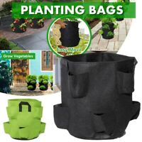 Grow Plant Bag Hanging Flower Garden Planter Pouch Strawberry Herb Bags Outdoor