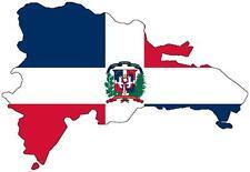 Pegatina sticker Adesivi adhesivo coche moto bandera mapa republica dominicana