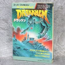 DRAKKHEN Super Hint Book Guide Famicom Book TK32*