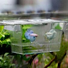 Fish Tank Aquarium Guppy Double Breeding Breeder Rearing Trap Box Hatchery Gift