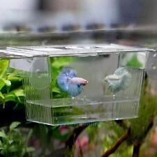 Fish Tank Aquarium Guppy Double Breeding Breeder Rearing Trap Box Hatchery Gift