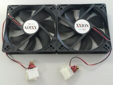 2 x 12cm 120mm DC Brushless PC Computer Case Cooling Fan 12V Cool Air