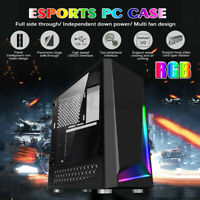 Micro-ATX mini-ITX Computer RGB Gaming PC Case Acrylic Steel Plate USB3.0