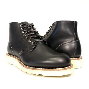 """RED WING Womens 6"""" Round Leather Lace Up Boots Black (MSRP $320)"""
