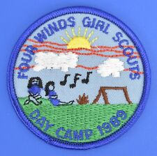 Girl Scouts Four Winds Day Camp 1989 Award Patch