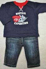 Vestiti blu con maniche lunghe per bambino da 0 a 24 mesi