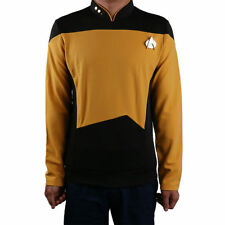 New Star Trek Gold Shirt Starfleet Command Uniform Cosplay Star Trek TNG Uniform