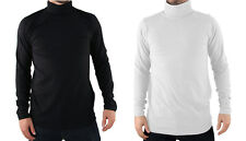 Faulty * Mens Polo Roll Neck Top 300gsm Heavy Cotton S M XL 2xl 3xl L White