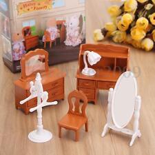 1:12 Dollhouse Furniture Miniatures Dresser Desk Coat Hanger Chair Set DIY