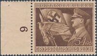 Stamp Germany Mi 865 Sc B252 1944 WWII Fascism War AH Eagle Flag L MH