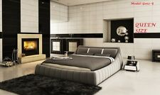 ITALIAN DESIGN QUEEN SIZE GREY  PU LEATHER BED FRAME