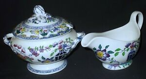 Mintons ORIENTAL DESIGN C4918 Covered Sauce Tureen with Gravy Boat